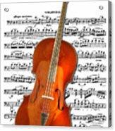Cello With Clara Bow Acrylic Print