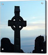 Celtic Cross At Sunset Donegal Ireland Acrylic Print