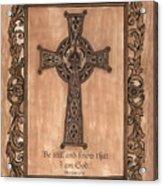 Celtic Cross Acrylic Print by Debbie DeWitt