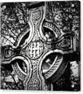 Celtic Cross Detail Killarney Ireland Acrylic Print by Teresa Mucha