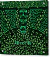 Celtic Green Man Acrylic Print