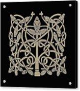 Celtic Leaves Knots One Acrylic Print