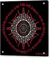 Celtic Lovecraftian Cosmic Monster Deity Acrylic Print