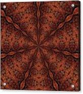 Celtic Ribbons Tile K7-2 Bronze Acrylic Print