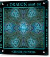 Celtic Snakes Mandala Acrylic Print