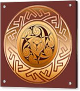 Celtic Spiral And Key Pattern Acrylic Print