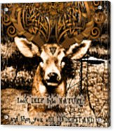 Celtic Stag Acrylic Print