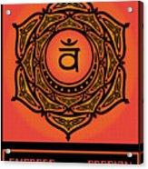Celtic Tribal Sacral Chakra Acrylic Print