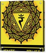 Celtic Tribal Solar Plexus Chakra Acrylic Print
