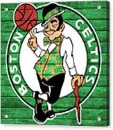 Celtics Barn Door Acrylic Print