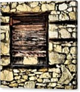 Cement Factory Window Acrylic Print