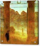 Cemetary At Dusk Acrylic Print