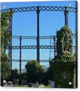 Cemetery And Gas Works Acrylic Print