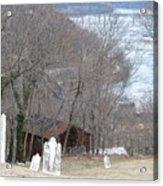 Cemetery Color Acrylic Print