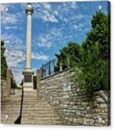 Cemetery Entrance And Lovejoy Monument  Acrylic Print