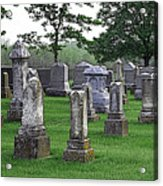 Cemetery Grunge Acrylic Print