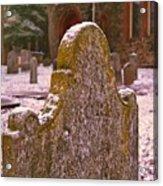 Cemetery Headstone  Acrylic Print