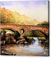 Cenarth Bridge And Falls Acrylic Print