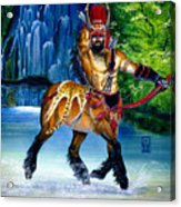 Centaur In Waterfall Acrylic Print