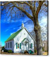 Centennial Christian Church Rural Greene County Georgia Acrylic Print