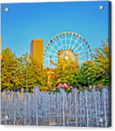 Centennial Fountains Acrylic Print