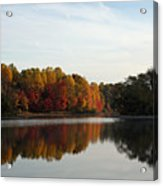 Centennial Lake Autumn - Fall Dressing Acrylic Print
