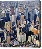 Center City Philadelphia Large Format Acrylic Print by Duncan Pearson