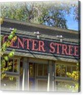Center Street Cafe Sign Acrylic Print