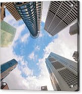 Central Business District In Singapore Acrylic Print