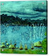Central Highland's Lake. Acrylic Print
