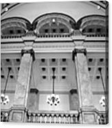 Central Library Milwaukee Interior Bw Acrylic Print