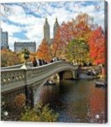 Central Park Autumn Cityscape Acrylic Print