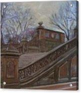 Central Park Bethesda Staircase Acrylic Print