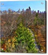 Central Park East Skyline Acrylic Print