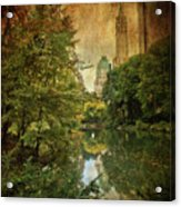 Central Park In Autumn Texture 4 Acrylic Print