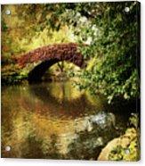 Central Park In Autumn Texture 6 Acrylic Print