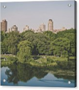 Central Park In Summer Acrylic Print