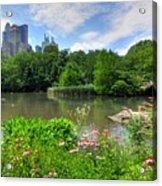 Central Park Acrylic Print by Kelly Wade
