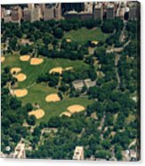 Central Park North Meadow In New York City Aerial View Acrylic Print