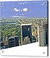 Central Park Panoramic Acrylic Print