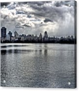 Central Park Resevoir Panorama Acrylic Print