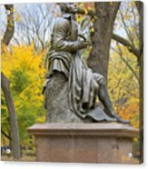 Central Park Robert Burns Statue Acrylic Print