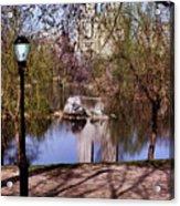 Central Park Sidewalk Acrylic Print