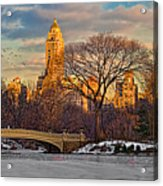 Central Parks Famous Bow Bridge Acrylic Print