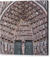 Central Portal Of The Cathedral Acrylic Print