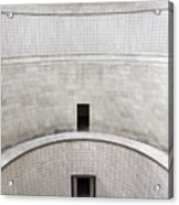 Central Tower With Skylight Cross And Names Of The Interred At T Acrylic Print