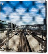 Central Train Station In Oslo Acrylic Print