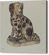 Ceramic Coach Dog Acrylic Print