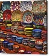 Ceramic Dishes Acrylic Print