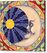 Ceramic Moon Acrylic Print by Anna Skaradzinska